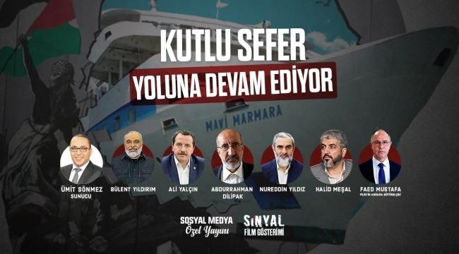 Mavi Marmara 10. yıla özel canlı yayınla programla anıldı//VİDEO HABER