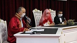 Pandemi sonrası ilk nikah kıyıldı