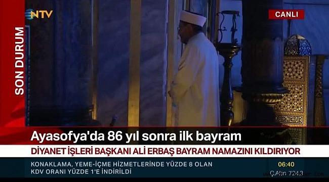 86 yıl sonra Ayasofya'da ilk bayram namazı!