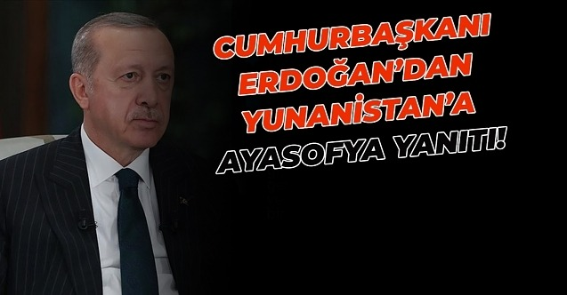 Cumhurbaşkanı Recep Tayyip Erdoğan,hayırlı olsun deyip duyurdu!