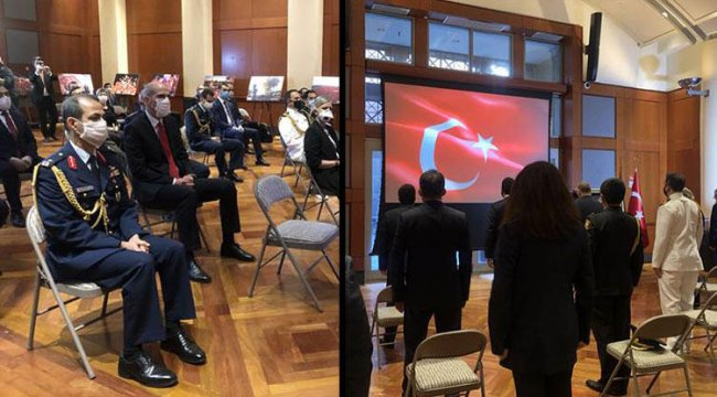 Türkiye'nin Washington Büyükelçiliği'nde 15 Temmuz anıldı