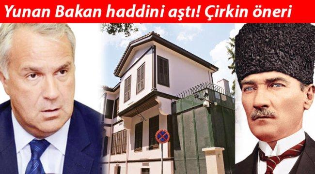 Yunan Bakan haddini aştı, bak sen şu hadsize! Atatürk Müzesi...