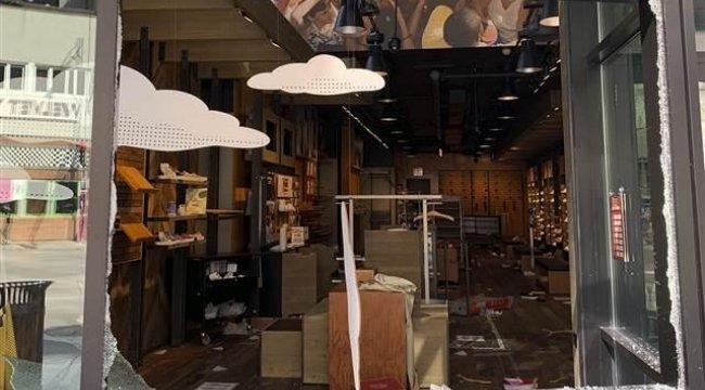ABD'de lüks mağazalar yağmalandı! 100 kişi gözaltına alındı