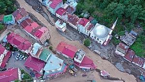 Giresun'daki felaket havadan görüntülendi