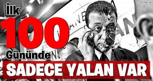 CHP.HDP.İP .İBB Başkanı Ekrem İmamoğlu'nun 500 günlük karnesi