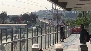 Kabataş-Bağcılar tramvay hattında arıza! Yüzlerce kişi istasyonlara yürüdü