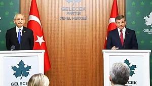 Kılıçdaroğlu ve Davutoğlu ortak basın toplantısı düzenledi