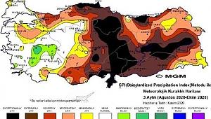 Meteorolojiden korkutan kuraklık haritası