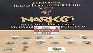 Kavanoza gizlediği uyuşturucuyla yakalanan şüpheli tutuklandı