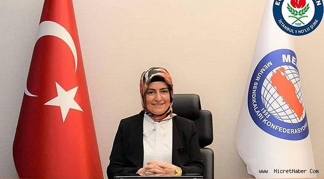 """Memur-Sen Kadınlar Komisyonu Başkanı Sıdıka Aydın,""""Sözleşmenin kalıntıları da temizlenmeli"""""""