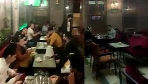 Beyoğlu'nda eğlence mekanına koronavirüs baskını kamerada
