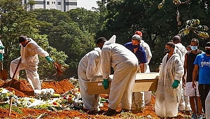 Brezilya'da son 24 saatte korona nedeniyle 3 bin 163 kişi hayatını kaybetti
