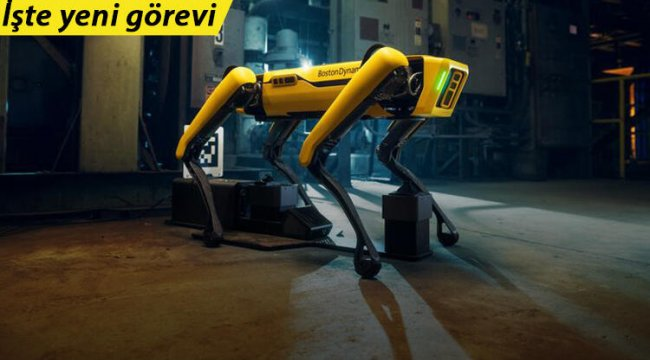 Korkulan senaryo gerçek oldu: İşte Boston Dynamics'in robot köpeğinin yeni işi