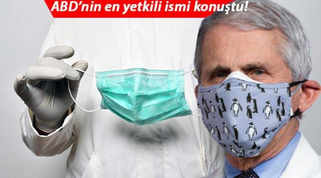 ABD'nin en yetkili ismi koronavirüste normalleşme tarihini açıkladı ve uyardı: Maske kullanımı mevsimsel olarak devam etmeli!