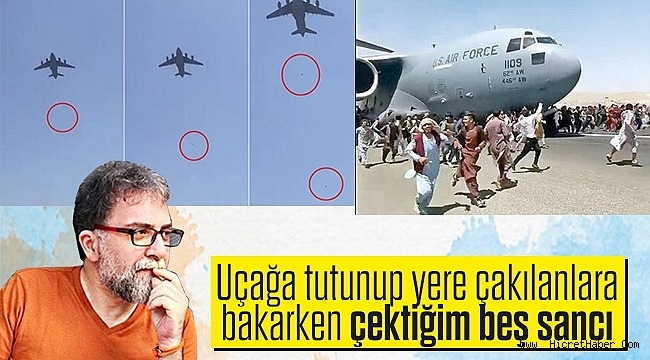 Uçağa tutunup yere çakılanlara bakarken çektiğim beş sancı