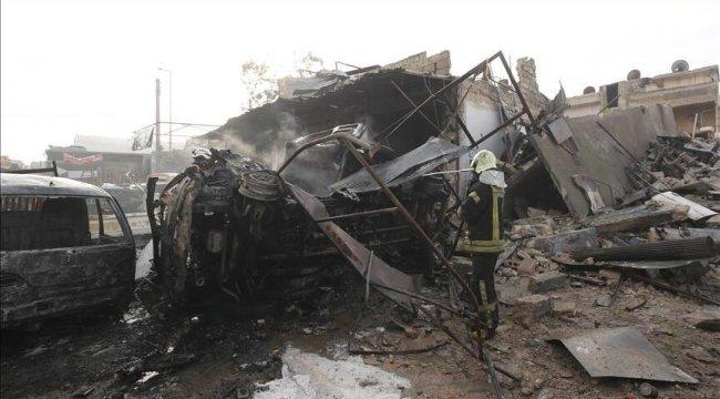 Esad rejimi İdlib'de pazar yerini vurdu: 10 ölü, 35 yaralı