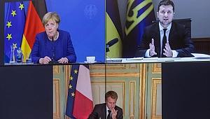 Zelenskiy, Macron ve Merkel ile görüştü