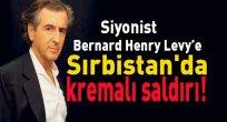 Siyonist Bernard Henry Levy'e Sırbistan'da kremalı saldırı!