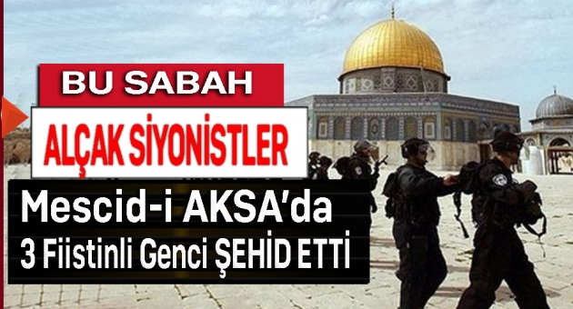 Yahudi işgalciler Mescid-i Aksa'ya girdi