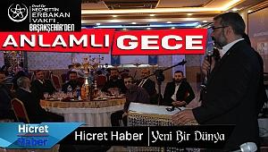Başakşehir Erbakan Vakfı Gönüllüleri Gece'de Buluştu