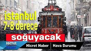 İstanbul 7- 8derece Soğuyor
