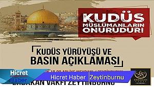 Zeytinburnun'da Kudüs Yürüyüşü Var