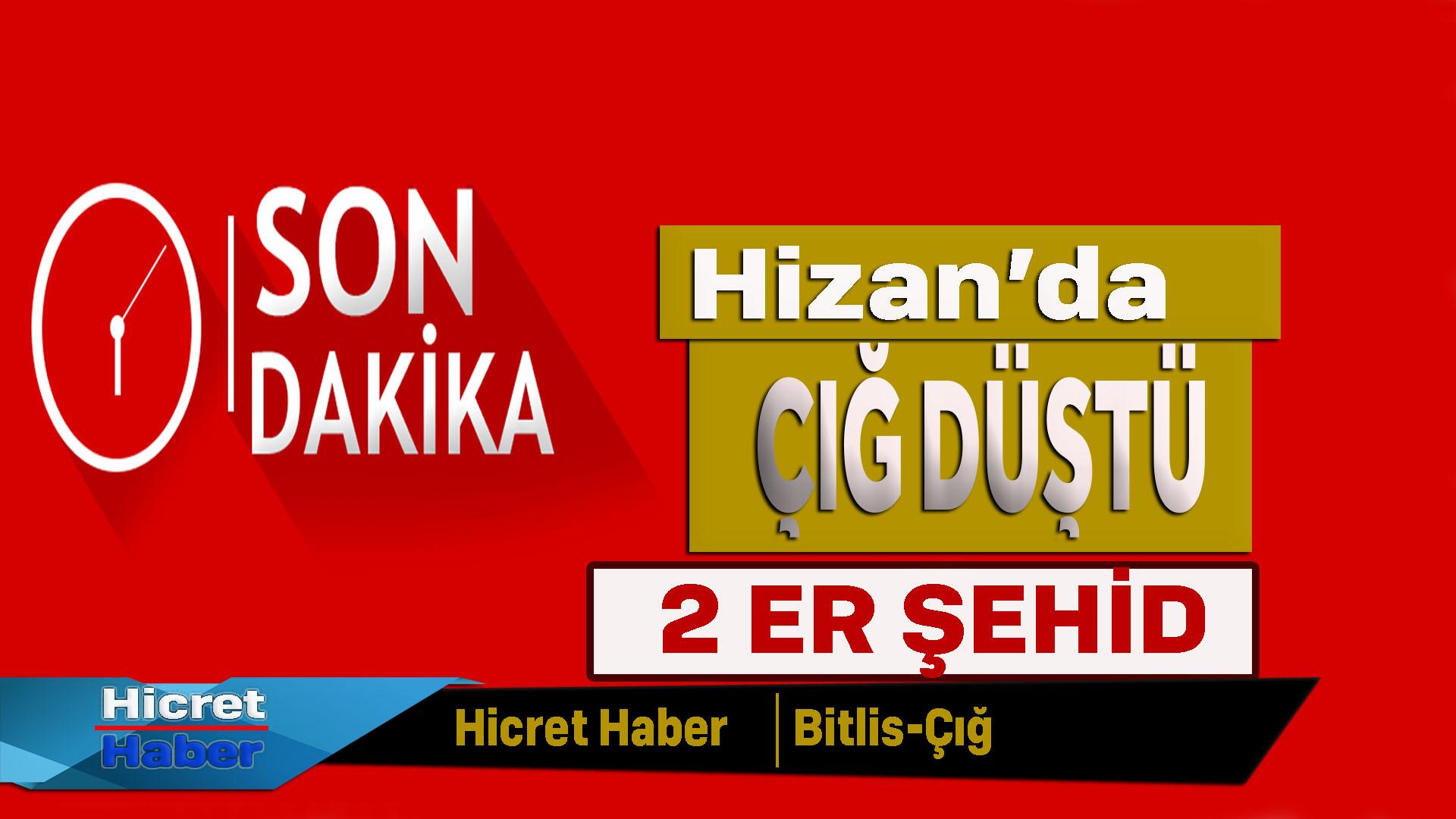 Bitlis'te 2 Er Şehid