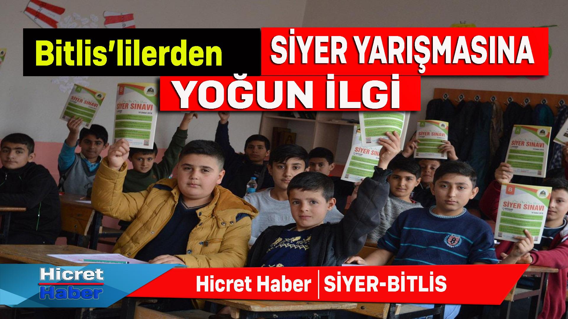 Bitlis'liler Siyer Yarışmasına Yoğun İlgi Gösterdiler