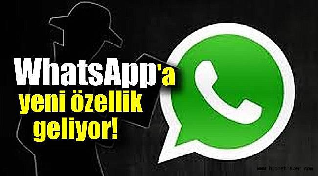 WhatsApp'a bir yeni özellik daha geliyor