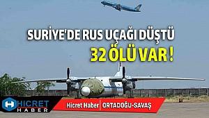 Suriye'de Rus Uçağı Düştü 32 Kişi Ölü Var