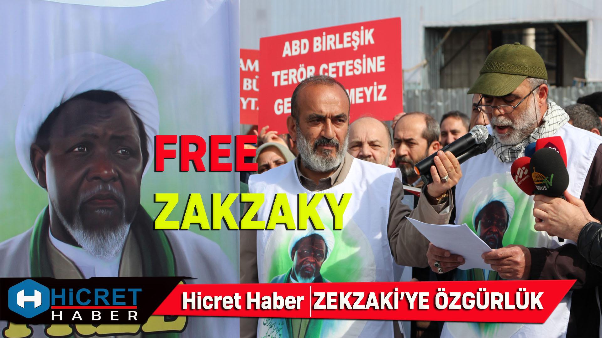 Şeyh Zekzaky'e Özgürlük Abd'ye Lanet Edildi