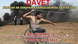 İstanbul'da Kudüs  İçin Eyleme Davet