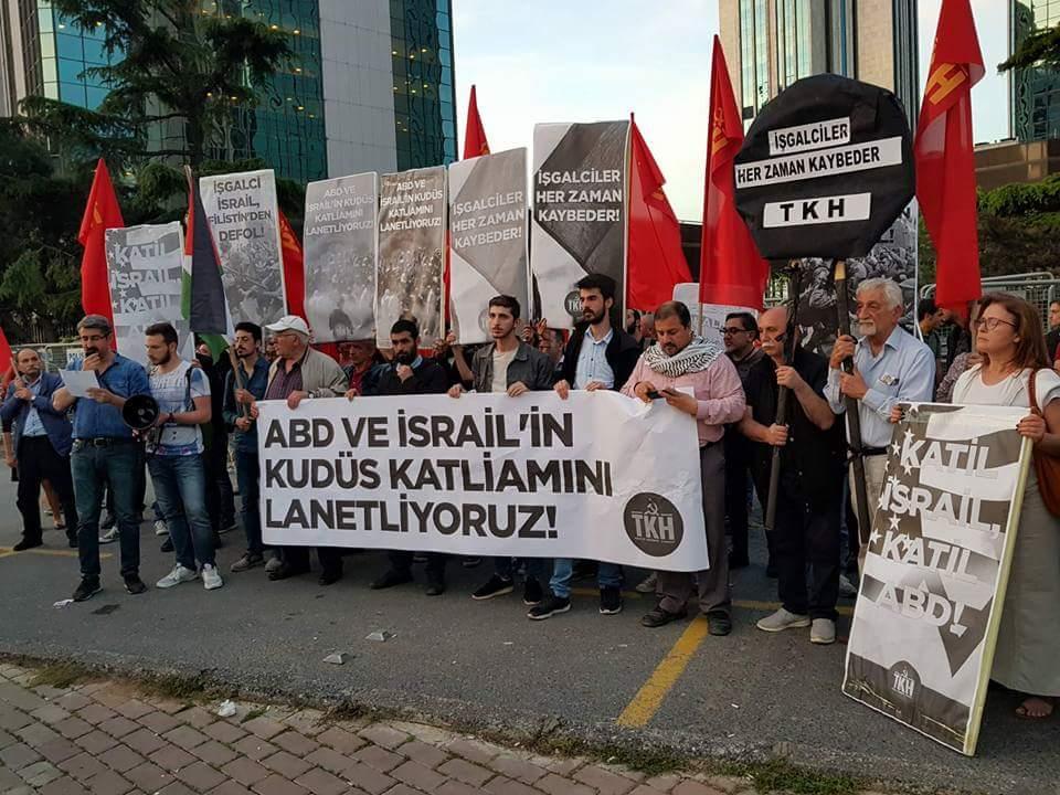 Koministlerden Filistin'e Destek İsrail'e Kahrol denildi