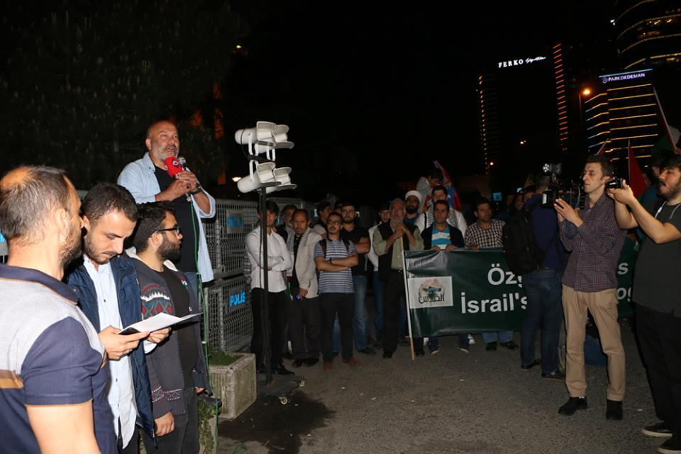 Kudüs Dostları  Siyonist Konsolosluğu Önünde Eylem Yaptı