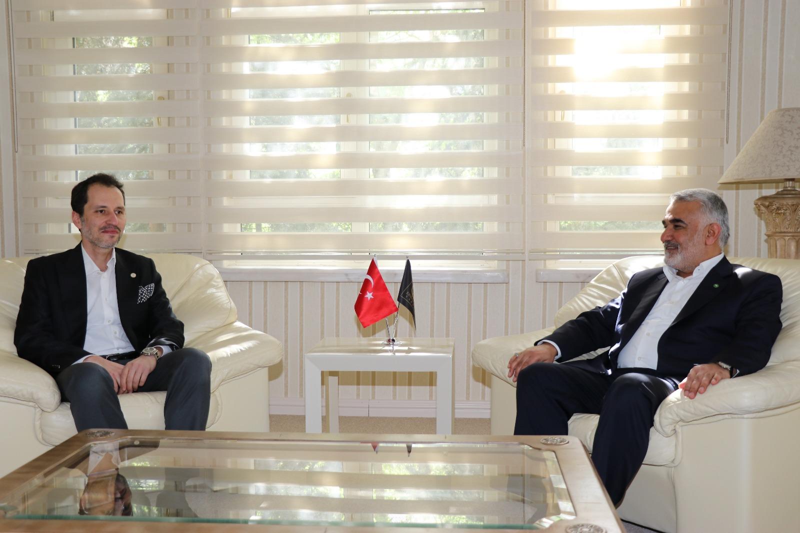 Yapıcıoğlu Erbakan'ı Ziyaret Etti