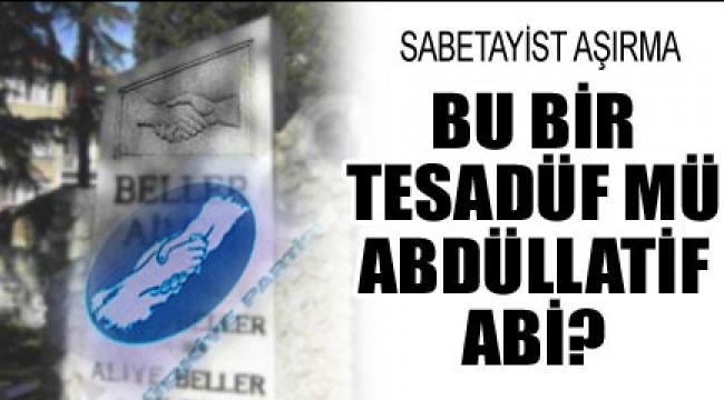 CHP li Abdullatif Şener,Türkiye Partisi'nin amblemi ile'Beller Ailesi'nin mezartaşı birbirinin aynısı
