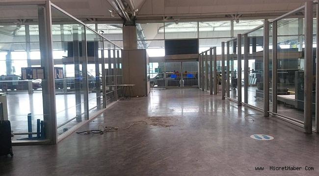 Atatürk Havalimanı'nın Terminal İşletmecisi TAV DHMİ ye ait Malzemeyi Söktü Aldı