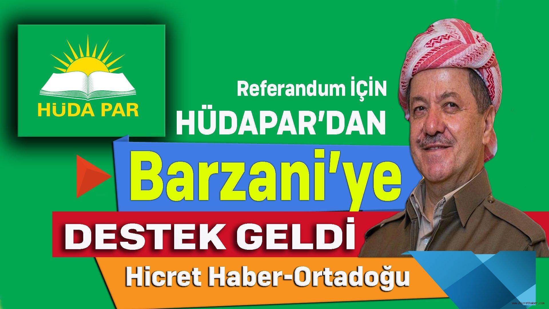 Barzani'ye Referandum Desteği