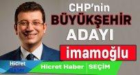 CHP'nin Adayı İmamoğlu
