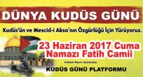 Dünya Kudüs Günü İstanbul (davet )